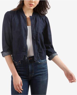 Lucky Brand Cotton Denim Bomber Jacket