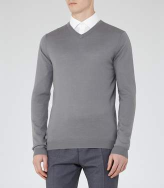 Reiss Emporer Merino V-Neck Jumper