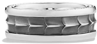 David Yurman Men's Sterling Silver Armory Narrow Band Ring
