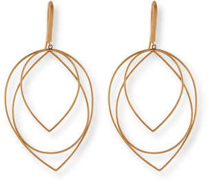Lana Jewelry 14k Medium Three-Tiered Hoop Earrings X7gQyZQE