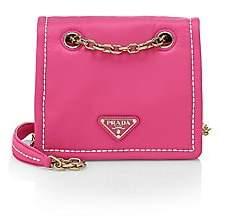 Prada Women's Small Tessuto Chain Shoulder Bag