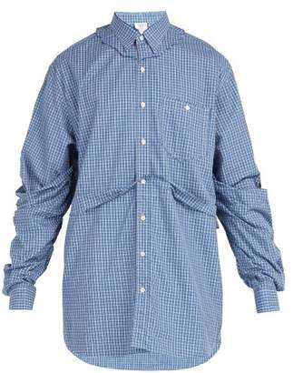 Vetements - Double Layer Torn Effect Shirt - Mens - Blue