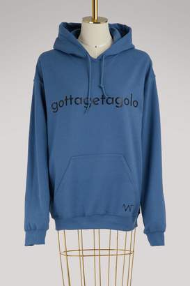 Alexandra Golovanoff Cotton logo hoodie