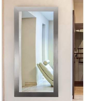 Latitude Run Pimentel Modern Silver Wall Mirror