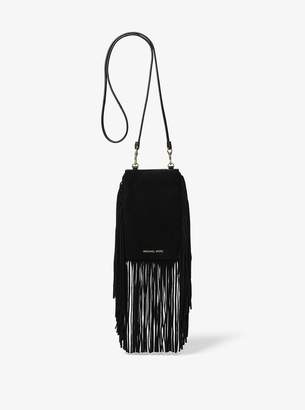 MICHAEL Michael Kors Cary Fringed Suede Smartphone Crossbody
