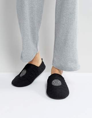 Tommy Hilfiger Down Quilted Slipper in Black