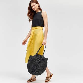 Warehouse Button Linen Skirt