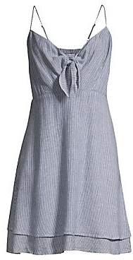 Rails Women's August Stripe Tiered Hem Chambray Midi Dress