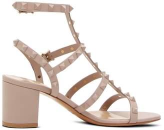 Valentino Rockstud Tonal Block Heel Sandals
