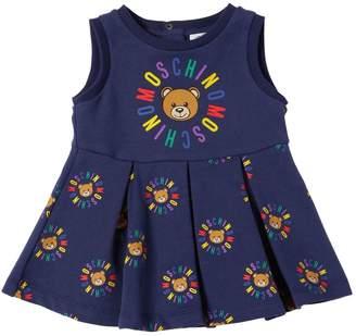 Moschino Logo Printed Cotton Dress