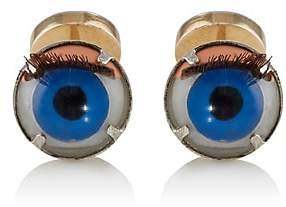 Samuel Gassmann Paris Men's Antique Doll Eye Cufflinks - Blue
