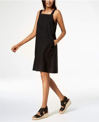 Eileen Fisher Organic Cotton Square-Neck Dress, Regular & Petite