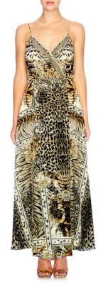 CamillaCamilla Chinese Whispers Spirit Animal Silk Wrap Gown