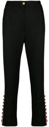 Dolce & Gabbana button embellished trousers