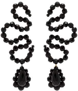 Simone Rocha Wiggle Beaded Earrings - Womens - Black