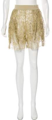 Damir Doma Metallic Lace Shorts