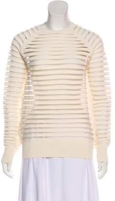 Nellie Partow Semi-Sheer Long Sleeve Sweater