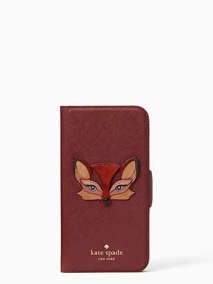Kate Spade Fox applique iphone x & xs folio case