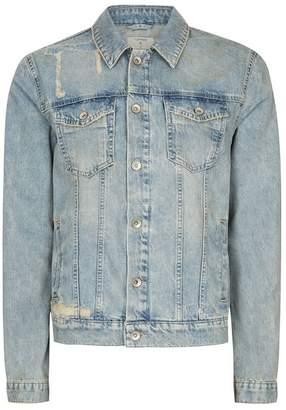 Blue Distressed Denim Jacket $95 thestylecure.com