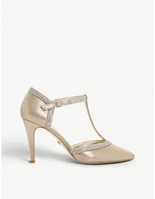 Dune Dilla T-bar diamante heeled courts