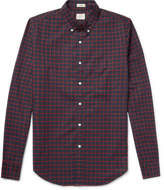 J.Crew Slim-Fit Button-Down Collar Checked Pima Cotton Oxford Shirt