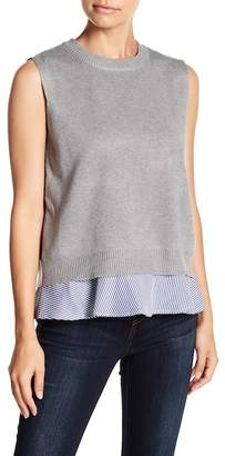 AFTER MARKET Sleeveless Knit Twofer Top