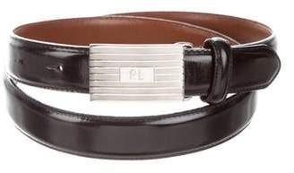 Ralph Lauren Leather Logo Belt