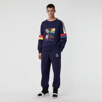 Burberry Colour Block Embroidered Archive Logo Sweatshirt