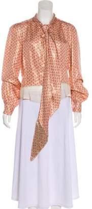 Marc Jacobs Brocade Button-Up Top Pink Brocade Button-Up Top