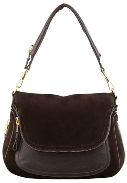 Tom Ford Jennifer Large Suede Shoulder Bag