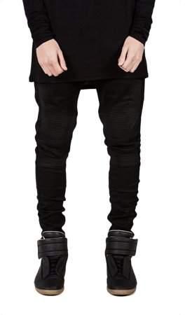 Raindrop Trendy Designed Straight Pants Casual Men Jeans Slim Elastic Denim Trousers