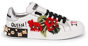 Dolce & Gabbana Dolce& Gabbana Women's Floral Graffiti Leather Sneakers