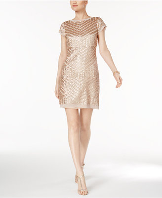 Vince Camuto Geo-Sequined Sheath Dress $168 thestylecure.com