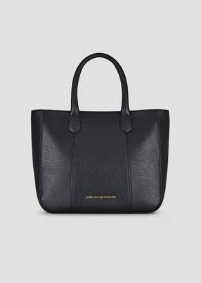 Emporio Armani Deer-Print Tote Bag With Detachable Strap