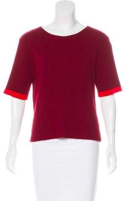 The Elder Statesman Cashmere Short Sleeve Top
