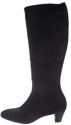 Gravati Suede Round-Toe Knee-High Boots