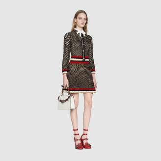 Gucci Lame blend cardigan with Web