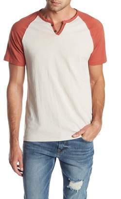 Lucky Brand Short Sleeve Colorblock Henley