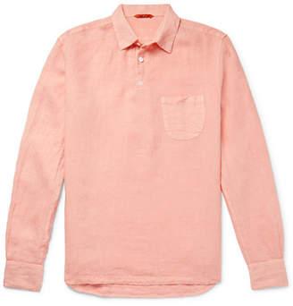 Barena Slub Linen Half-Placket Shirt