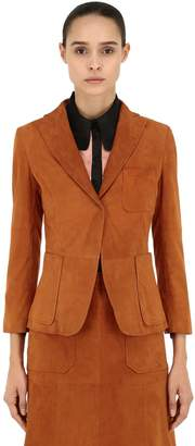 L'Autre Chose Suede Single Button Jacket