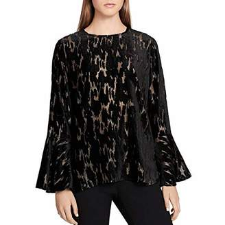 Calvin Klein Women's Flocked Velvet with Gold Underpinning