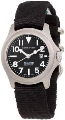 Momentum Women's 1M-SP01B8B Atlas Titanium Watch with Black Nylon Band