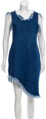 Marques Almeida Marques' Almeida Distressed Denim Dress