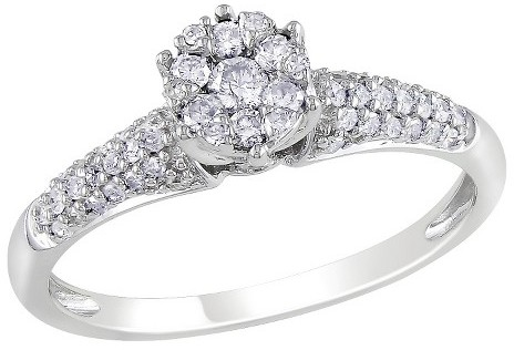 Diamond 1/3 CT. T.W. in 10K White Gold Engagement Ring