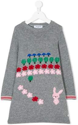 Simonetta bunny knitted dress