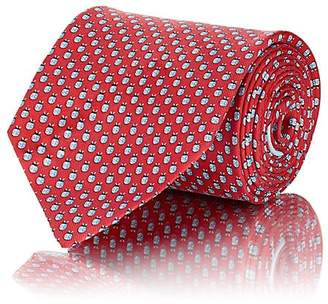 Salvatore Ferragamo Men's Ladybug-Print Silk Twill Necktie
