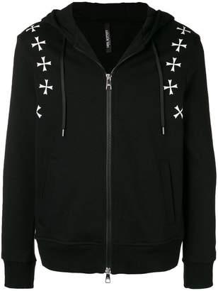 Neil Barrett Military Star print hoodie