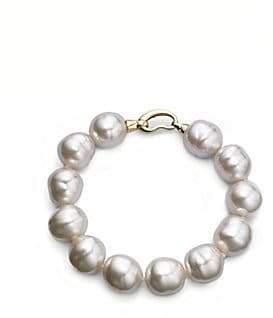 Majorica Women's 14MM White Baroque Pearl Strand Bracelet
