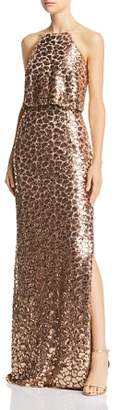 Aidan Mattox Sequined Lace Gown