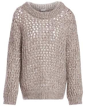 Brunello Cucinelli Women's Cashmere Net Weave Sweater